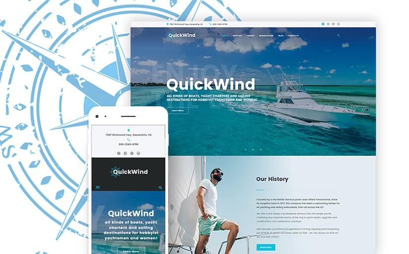 тема для сайта яхтинг
