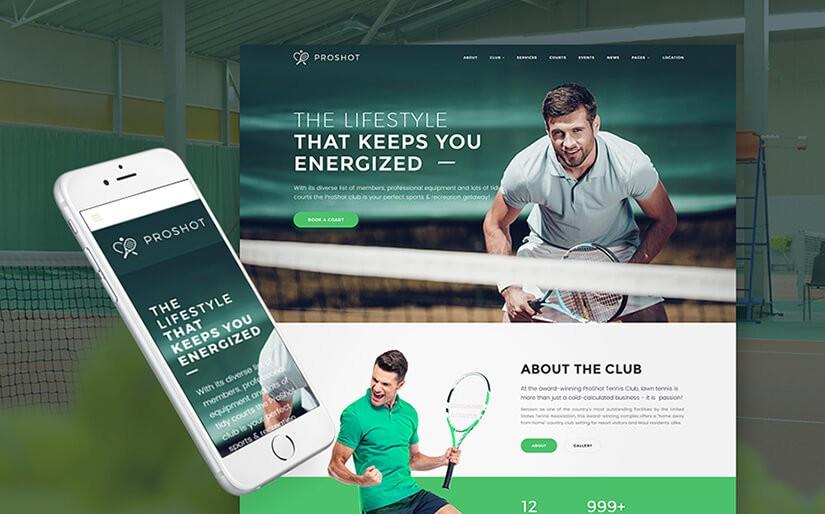 Сайт про теннис
