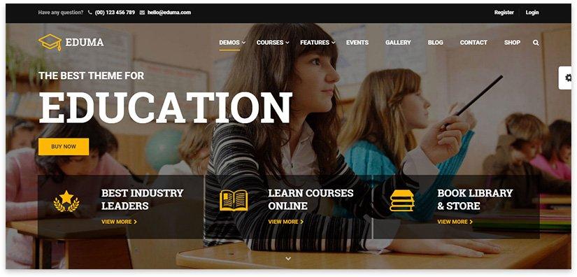 сайт для обучения, школы