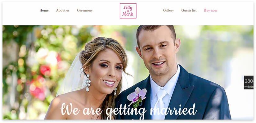 сайт свадебной тематики