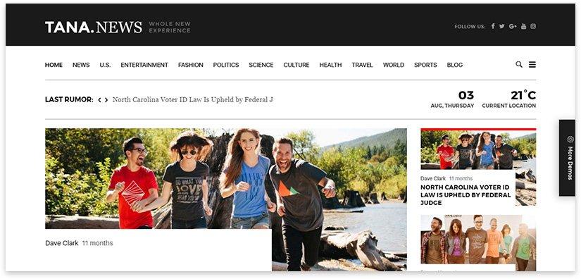 креативный блог скриншот