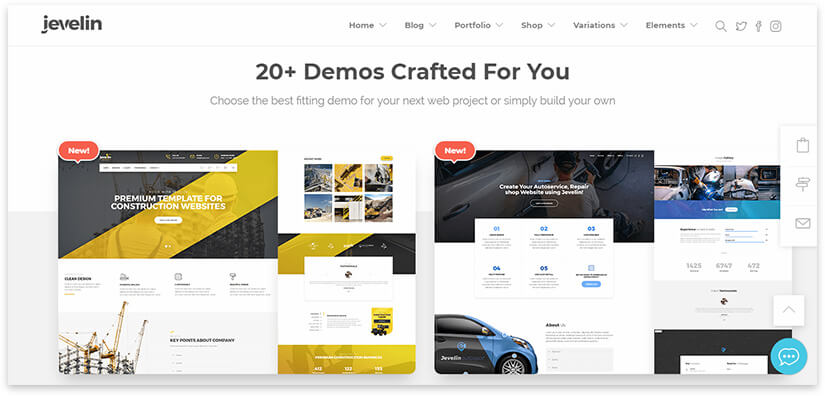 jevelin wordpress template