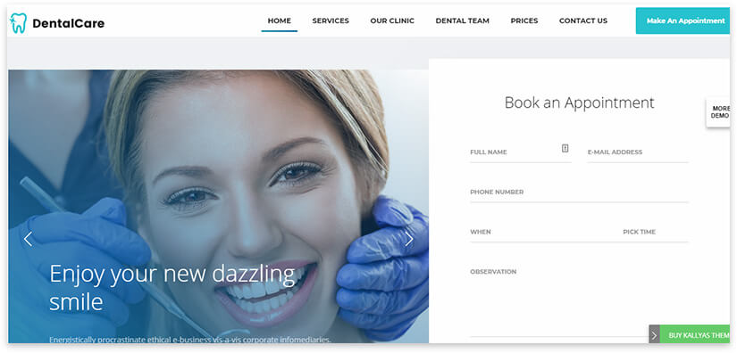 визитка для стоматолога