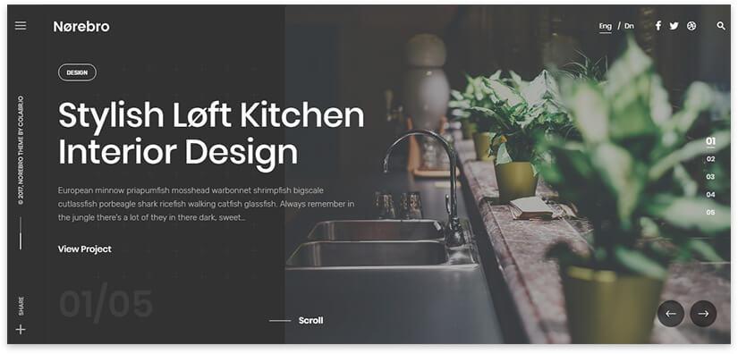 сайт дизайн интерьера на вордпресс