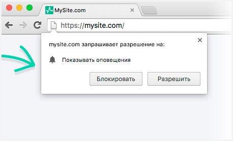 Пример push во время подписки