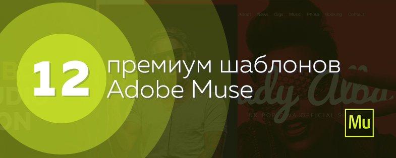 12 шаблонов adobe muse