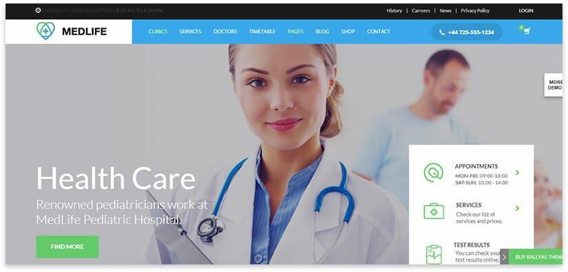 Шаблон сайта здоровья