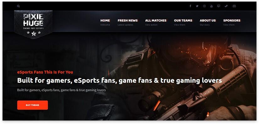 Игровой сайт для шуттера