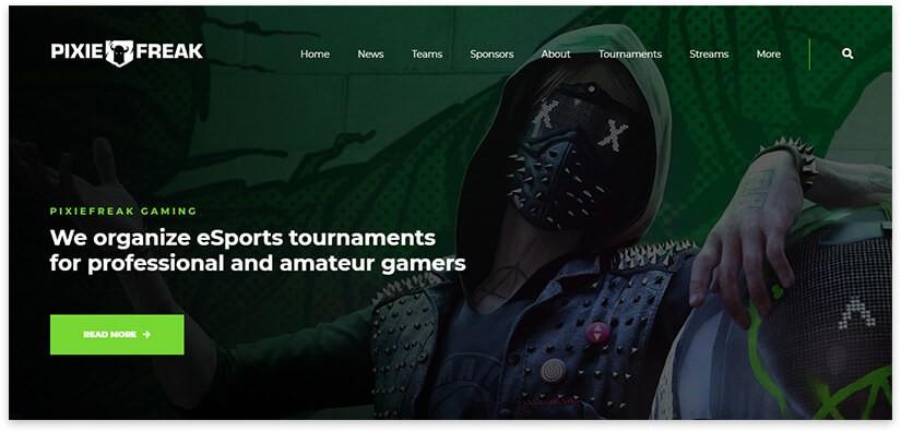 скриншот шаблона для блога игр