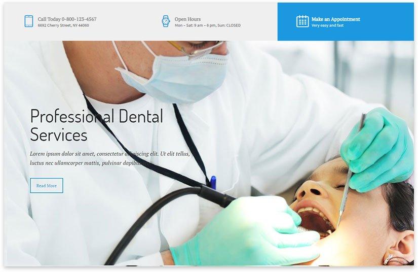 Шаблоны wordpress зубной врач