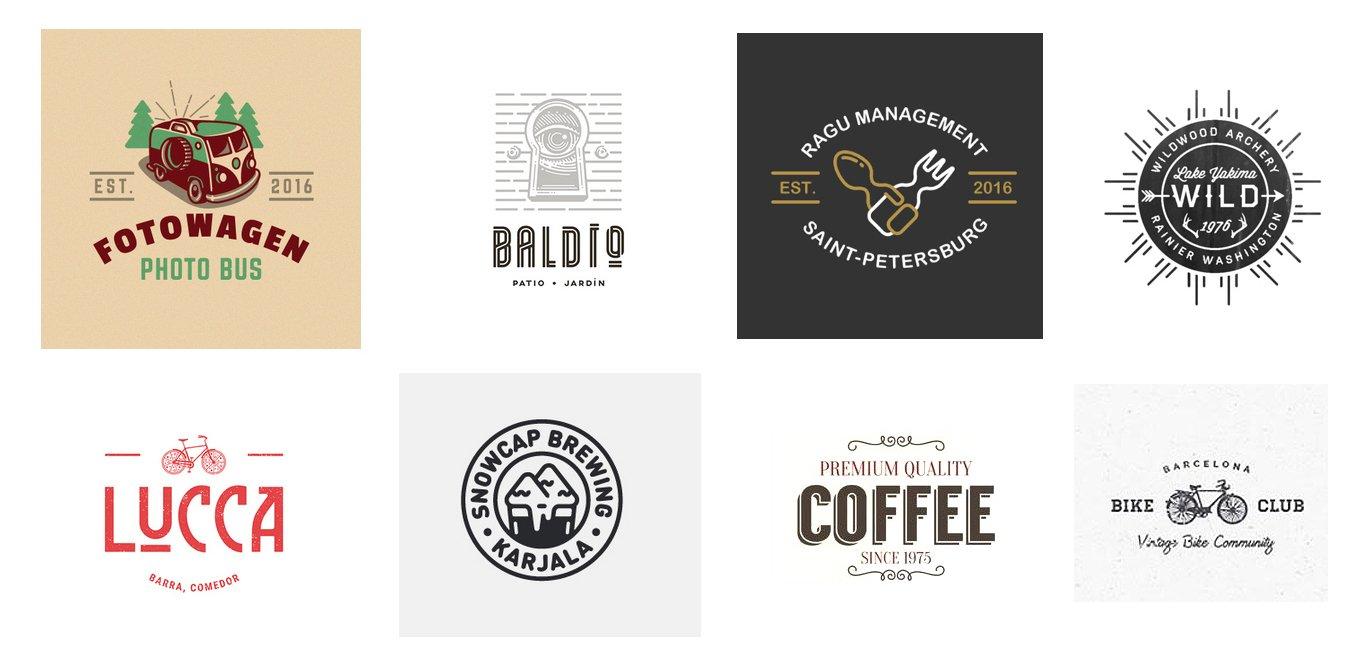 винтажные лого