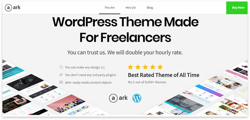 Wordpress theme ark