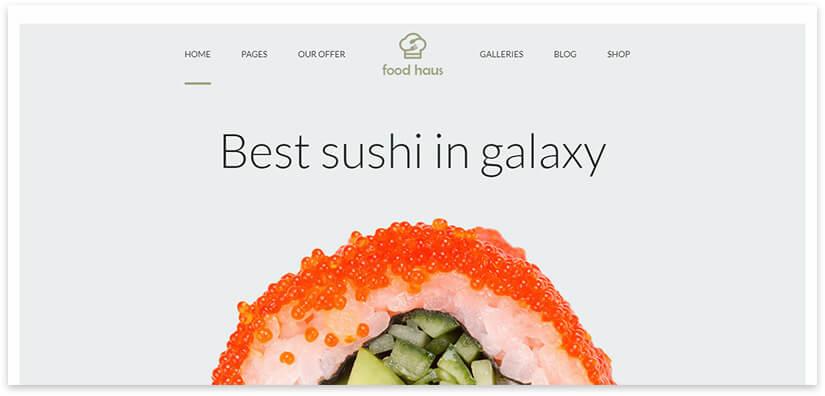 сайт для суши