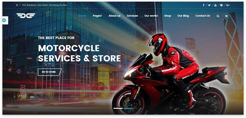 сайт тема мотоциклы