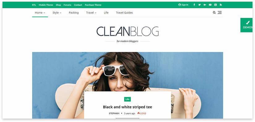 простой блог