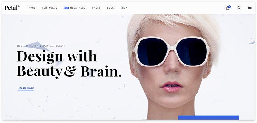 креативный шаблон минимализм wordpress