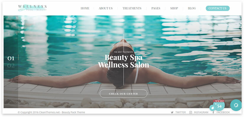 wellness salon site