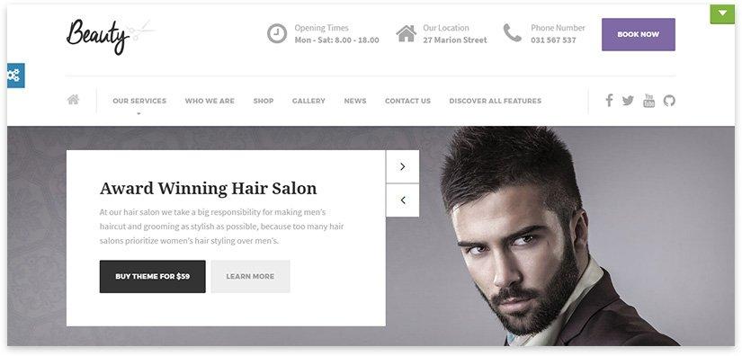 мужская парикмахерская тема
