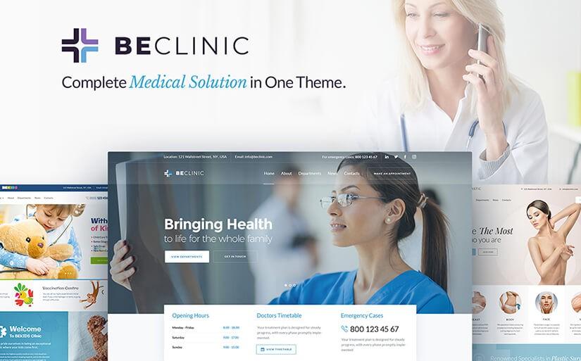 шаблон сайта клиники