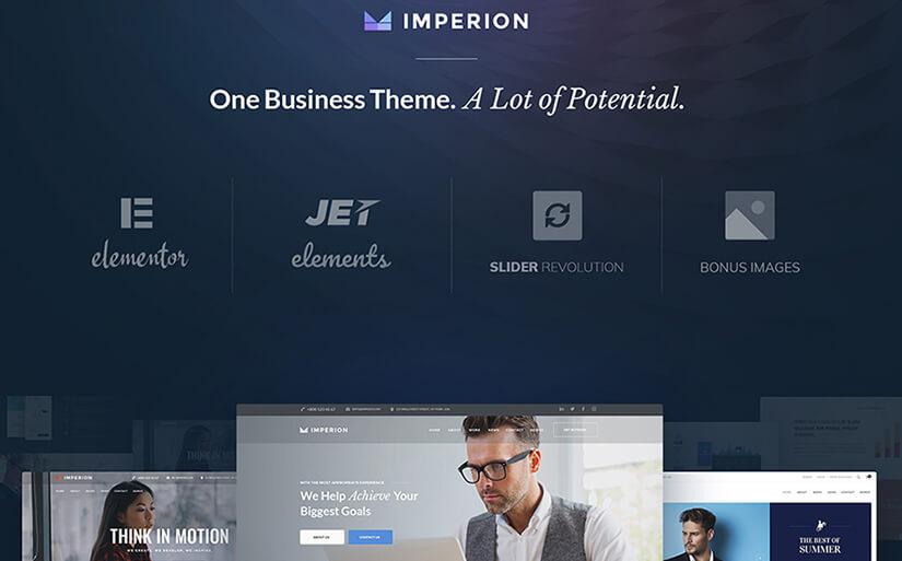 бизнес шаблон сайта