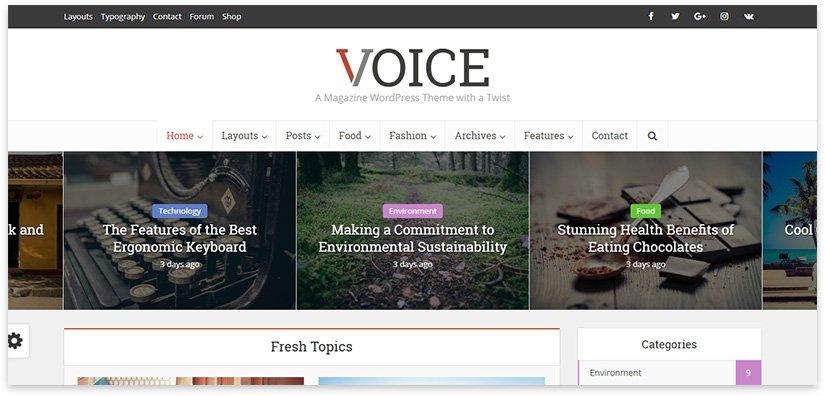 voice - портал вордпресс