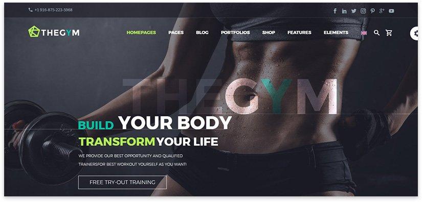 экран сайта для спорта