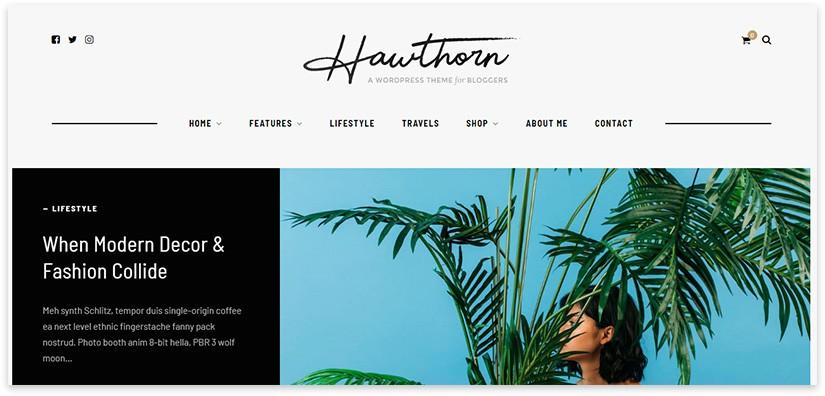 hawthorn вордпресс