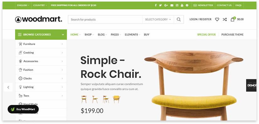 тема для сайта мебели