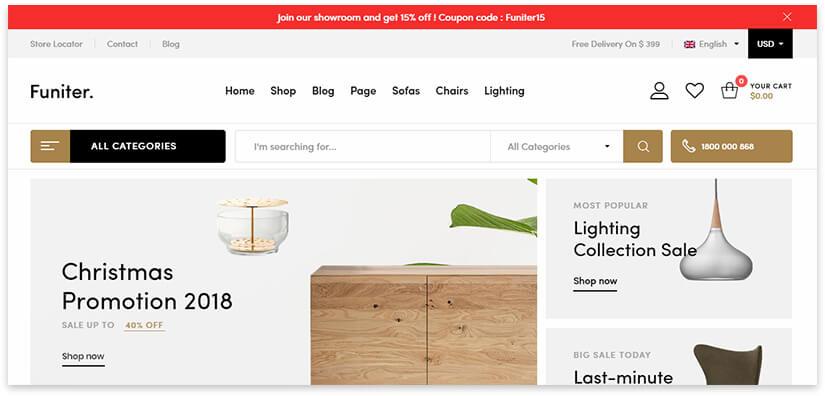 создать сайт по продажи мебели