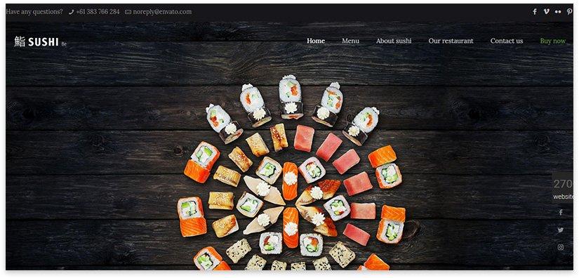 сайт суши
