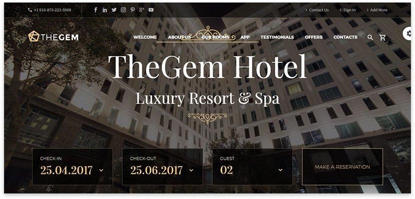 сайт визитка отеля