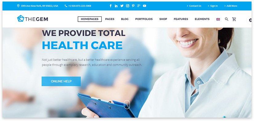 сайт медицинской тематики