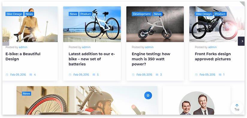Новостной сайт про велосипеды
