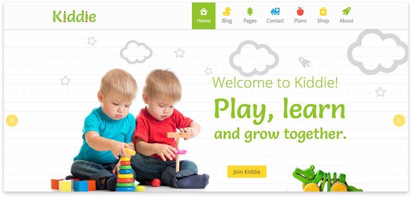 шаблон для детского сайта