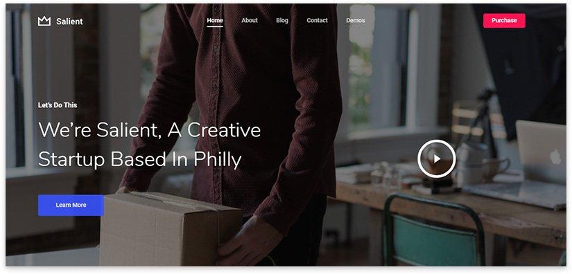 страница для стартапа