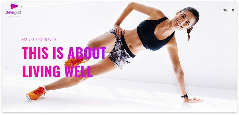 фитнес вордпресс