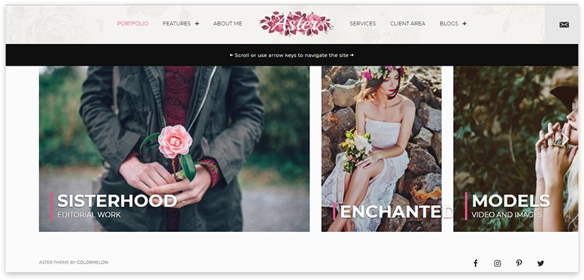 сайт женского фотографа