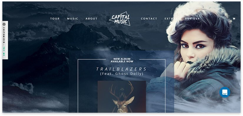сайт для музыкального альбома