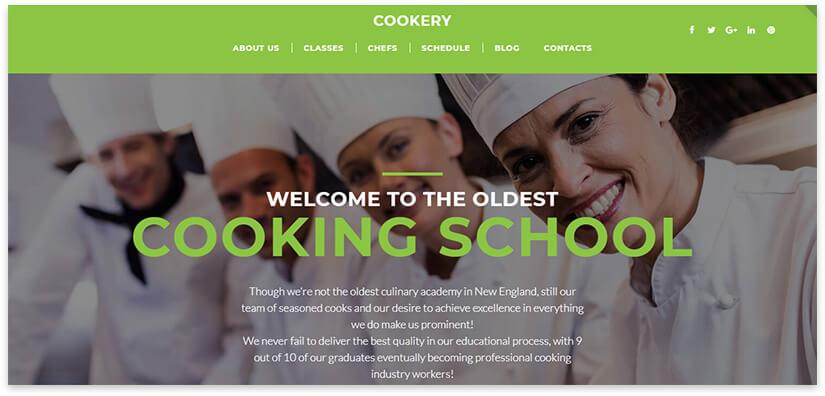 шаблон сайта кулинарных курсов