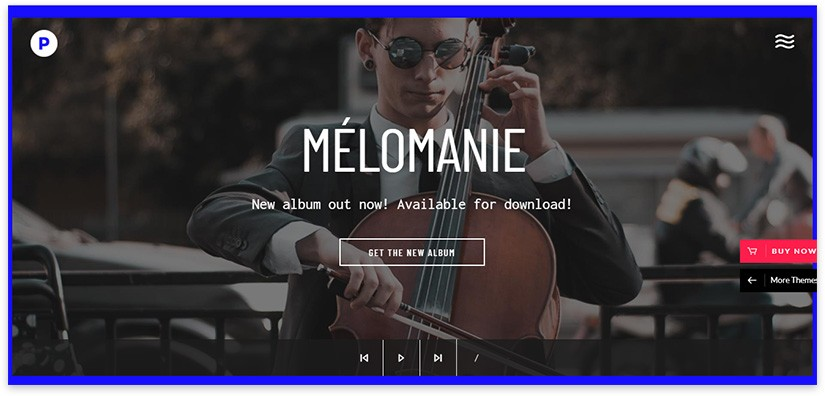 шаблон музыкального сайта