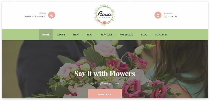 лендинг бутика цветов