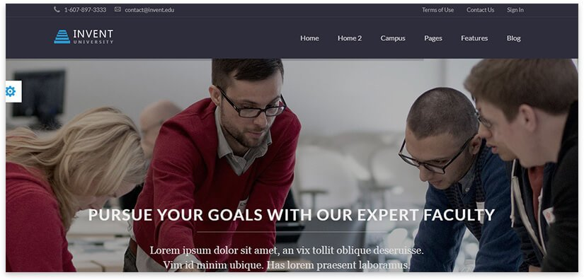 сайт для курсов