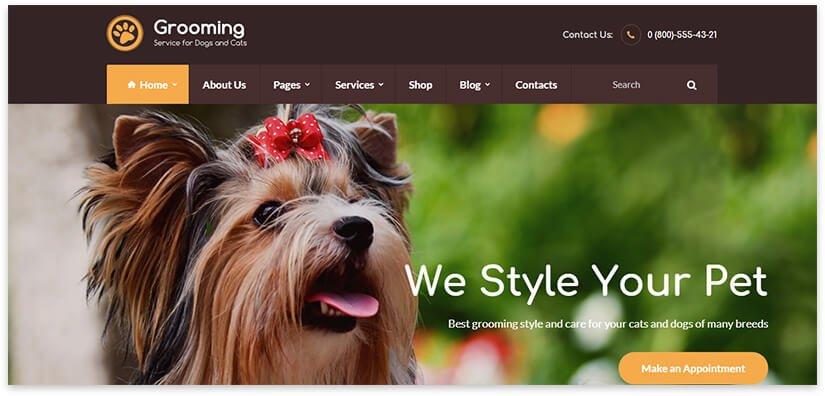 груминг животных сайт