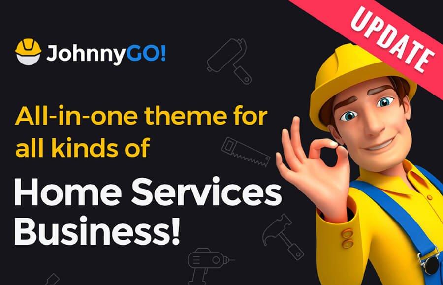 Адаптивный WordPress шаблон JohnnyGO на тему домашний ремонт