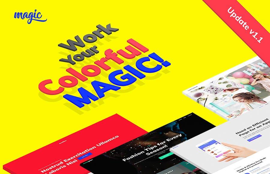 WordPress шаблон Magic - Многоцелевая и Креативная