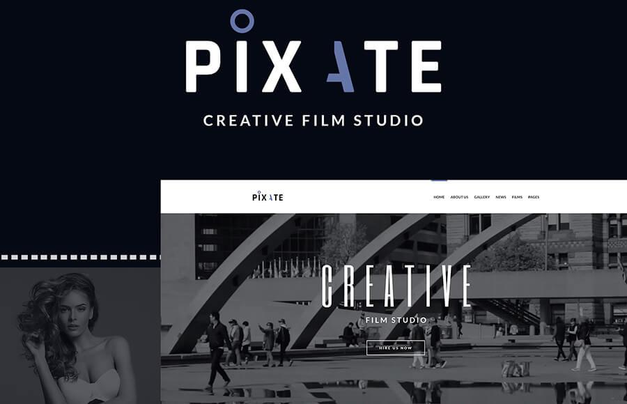 Pixate шаблон на тему видео студия