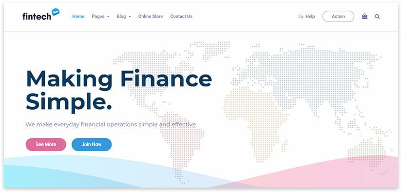 Светлый сайт про финансы