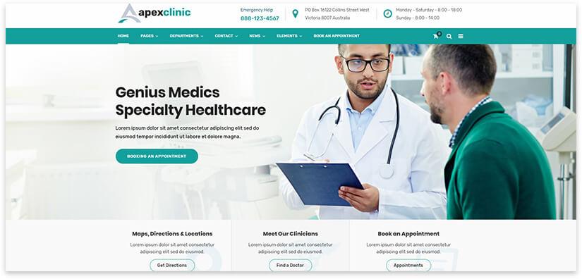 сайт клиники на вордпресс