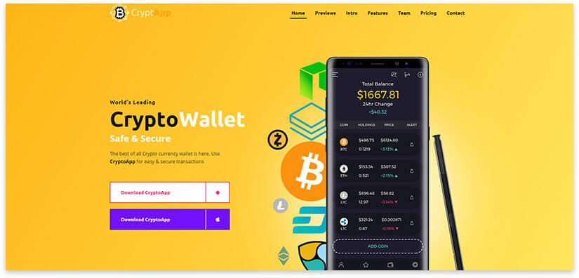 приложение для криптовалюты