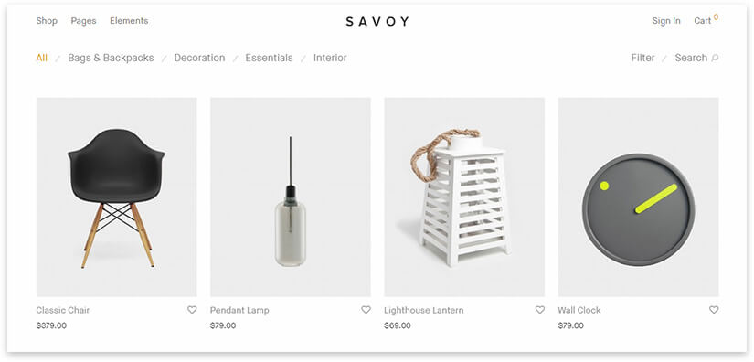 savoy wp theme